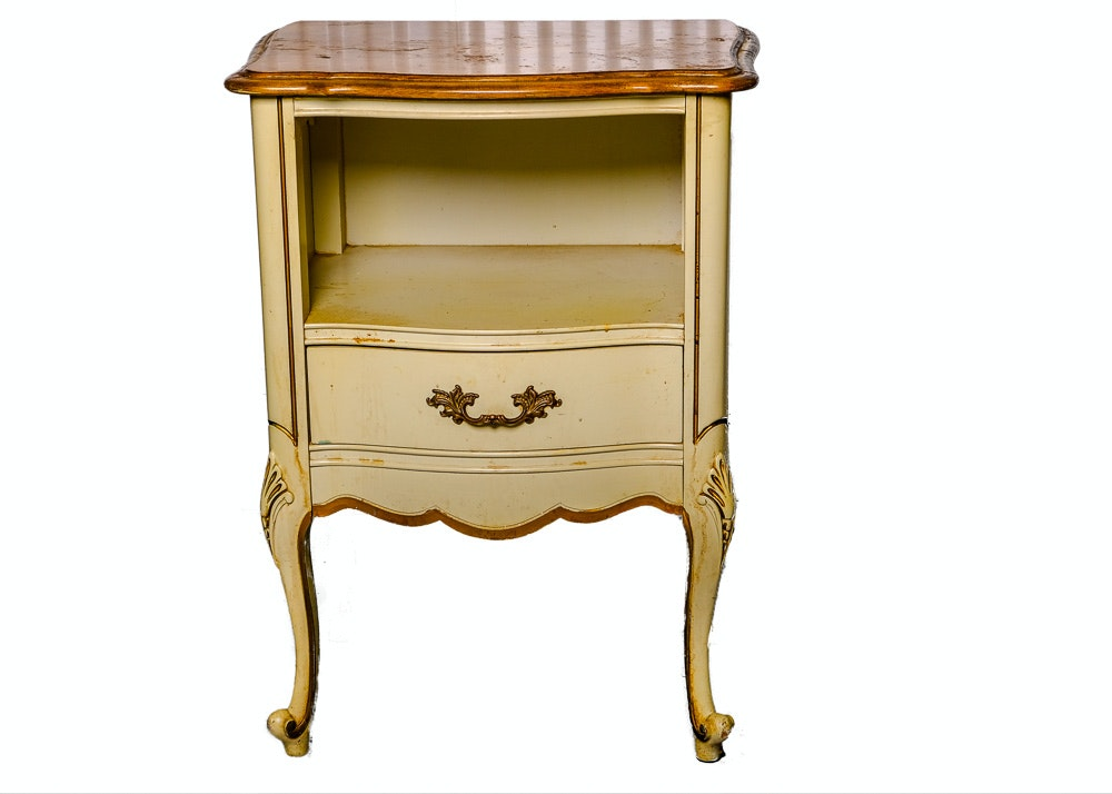 Vintage French Provincial Style Nightstand