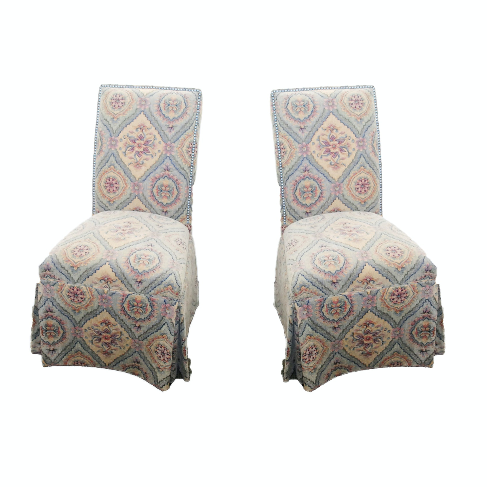 A Pair of Upholstered Parson Chairs