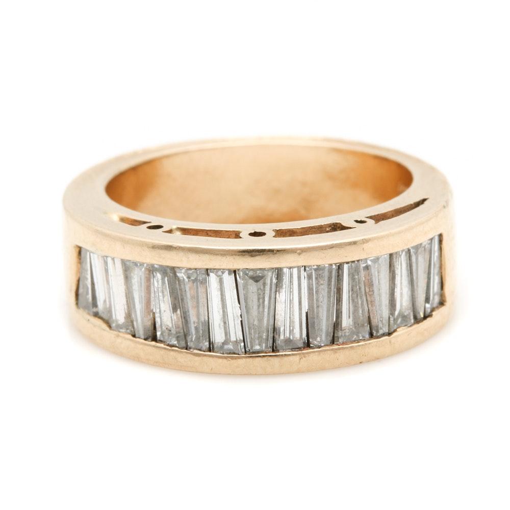 14K Yellow Gold 2.00 CTW Diamond Ring Band
