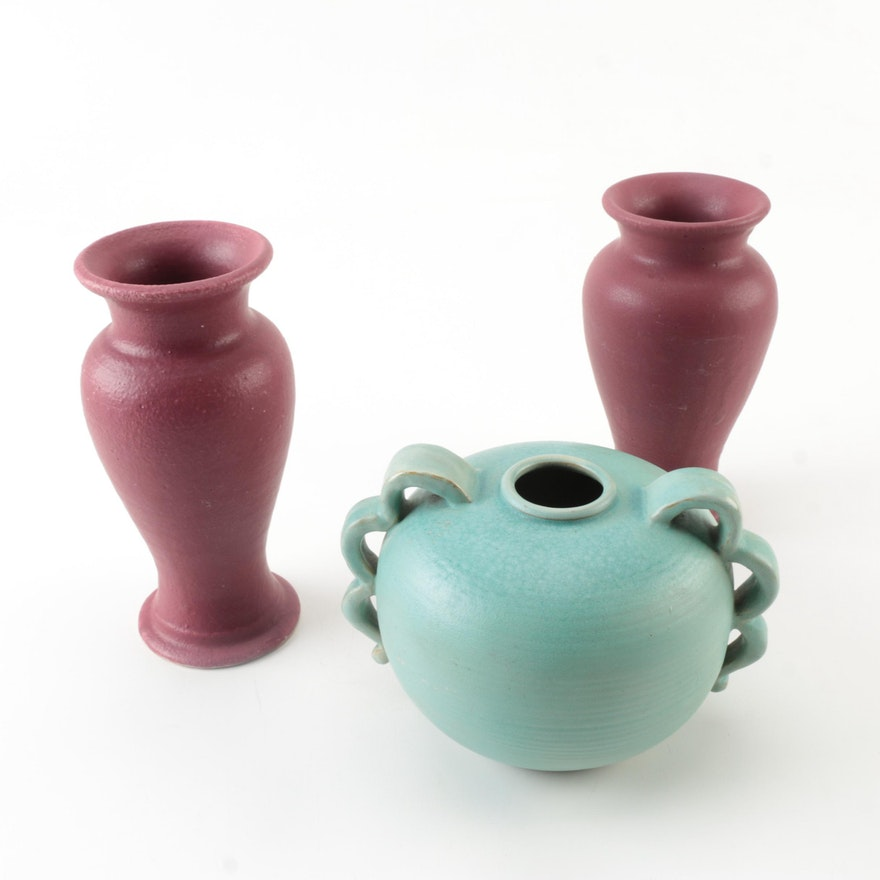 Pewabic Pottery Vases And Decorative Urn Ebth