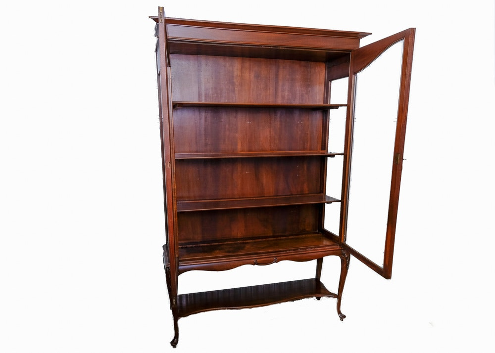 Antique Queen Anne Style Mahogany China Cabinet ...