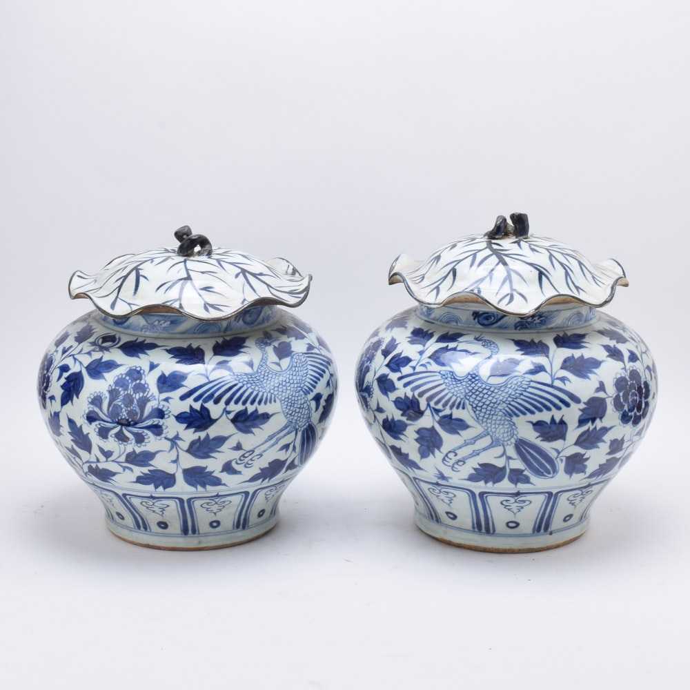 Chinese Matching Lidded Vessels