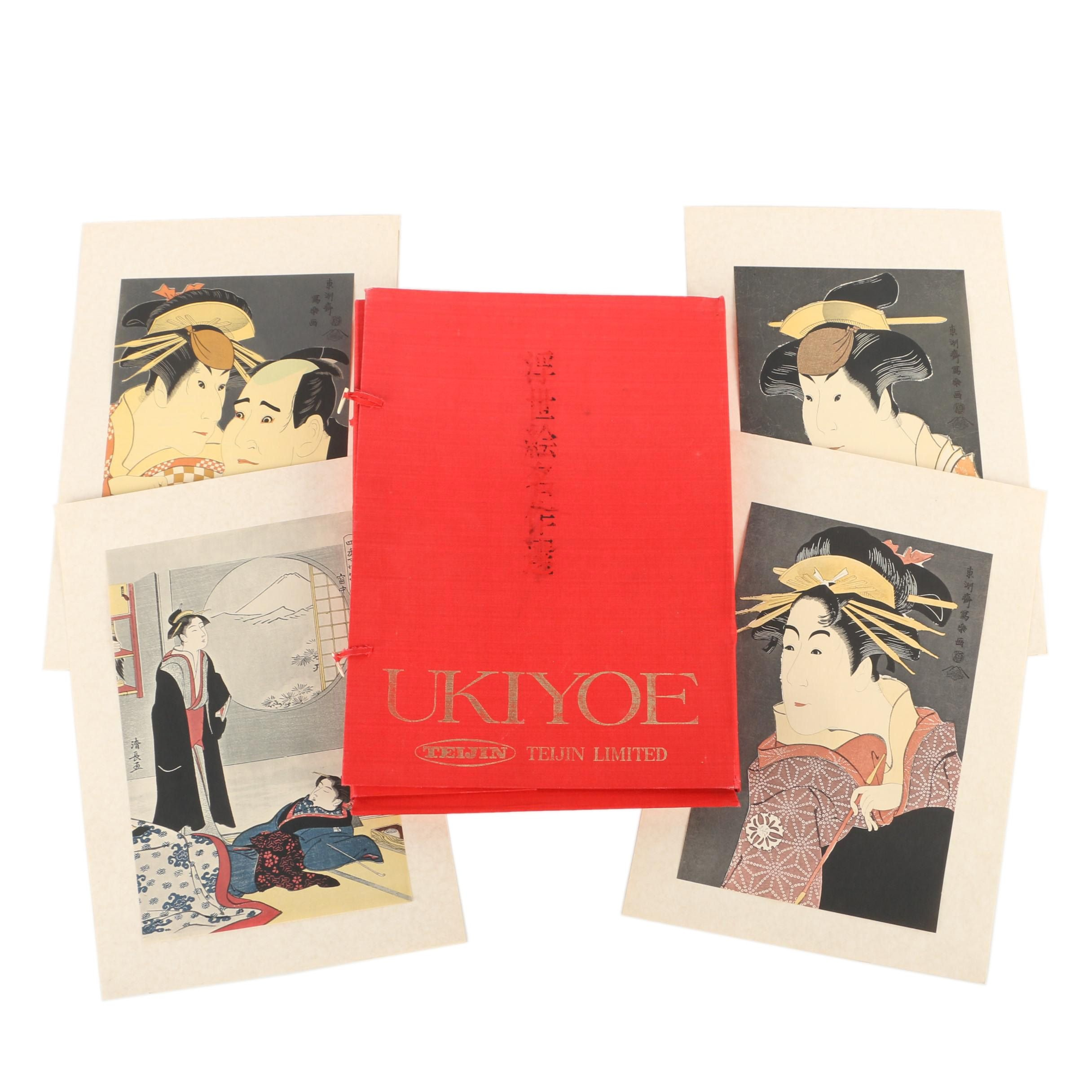 Teijin Limited Portfolio of Reproduction Prints Japanese Ukiyo-e Portraits