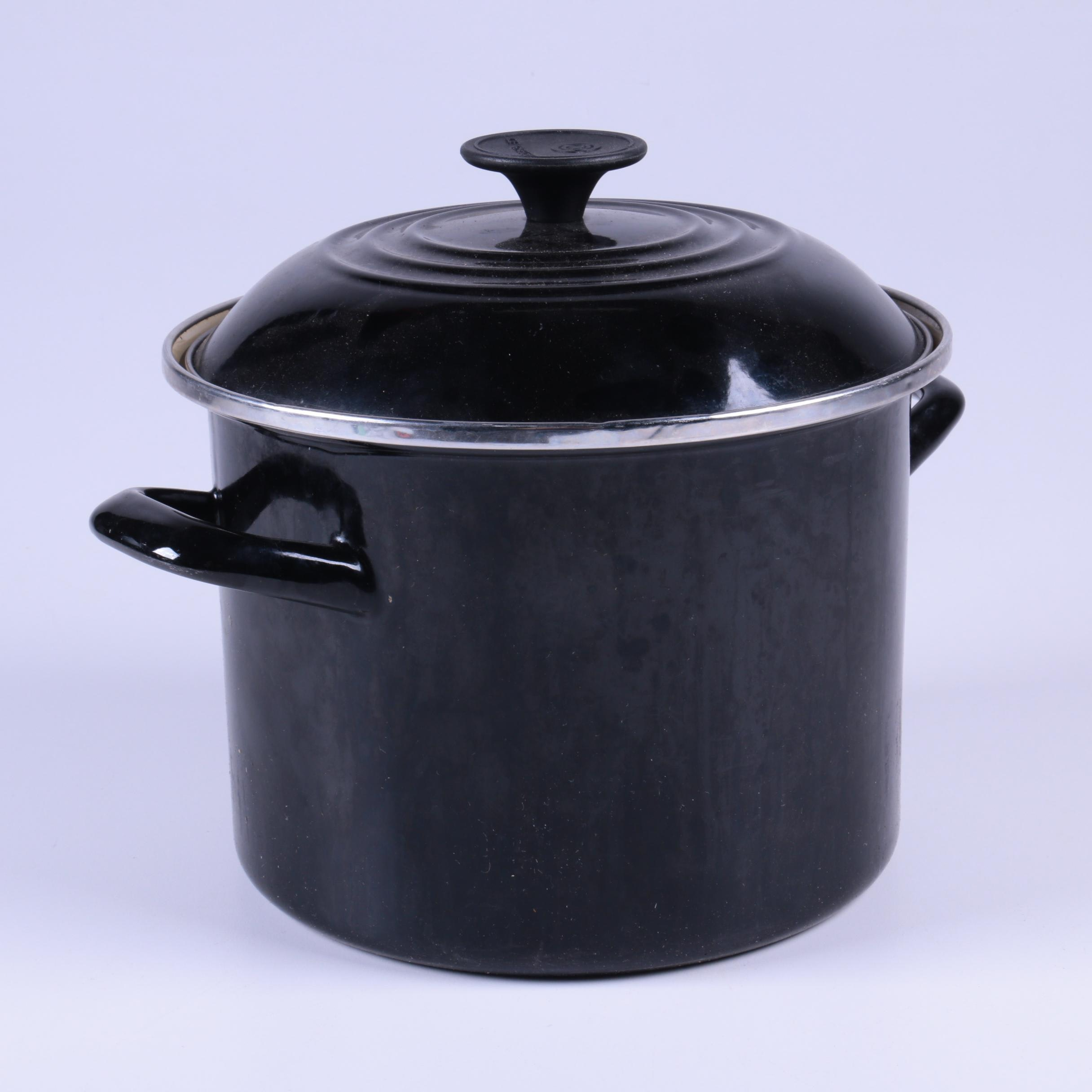 Le Creuset Black Stock Pot