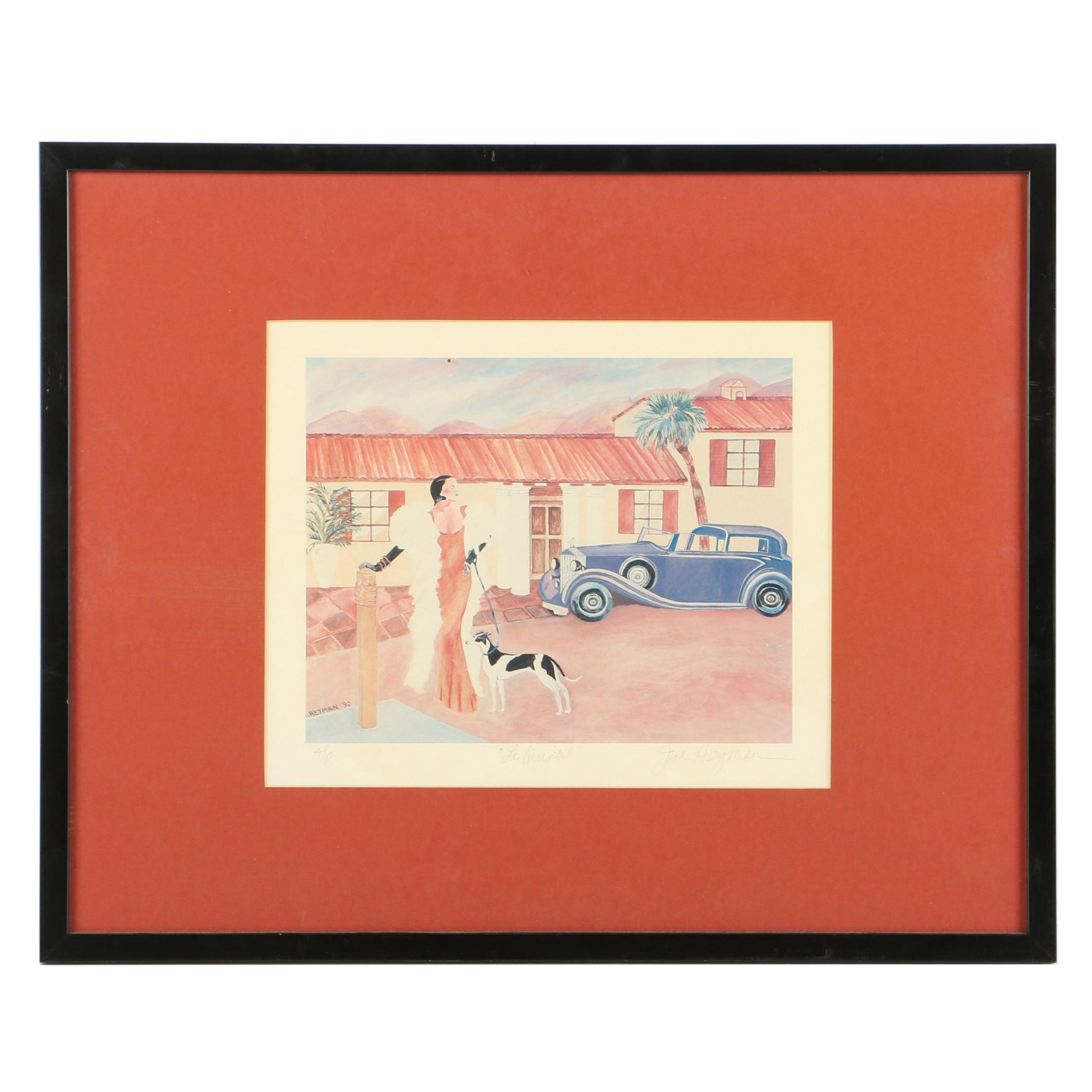 "Signed Artist Proof Jane Heyman Offset Lithograph on Paper ""La Quinta"""