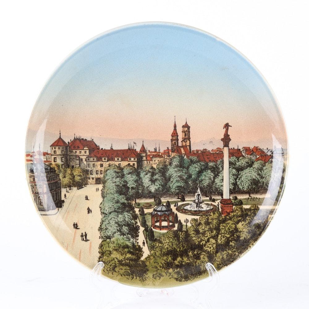 """Antique Villeroy & Boch """"Stuttgart Schlossplatz"""" Plate"""