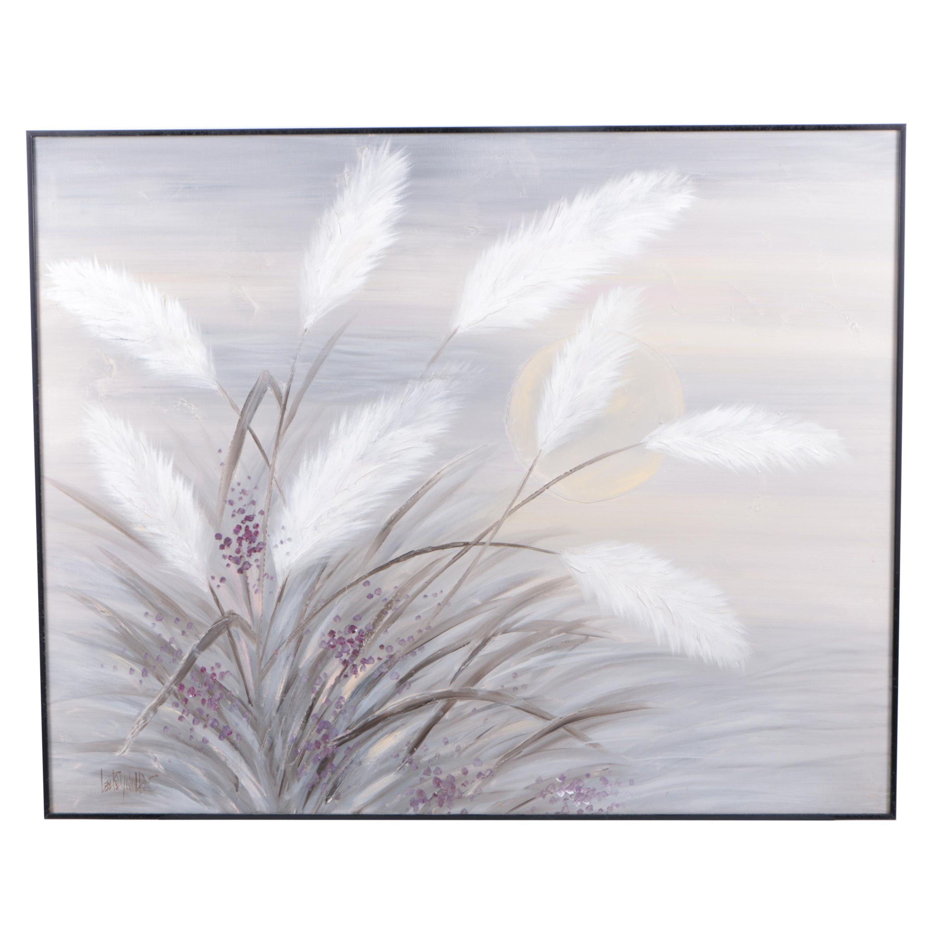 Lee Reynolds Oil Painting on Canvas of Grasses