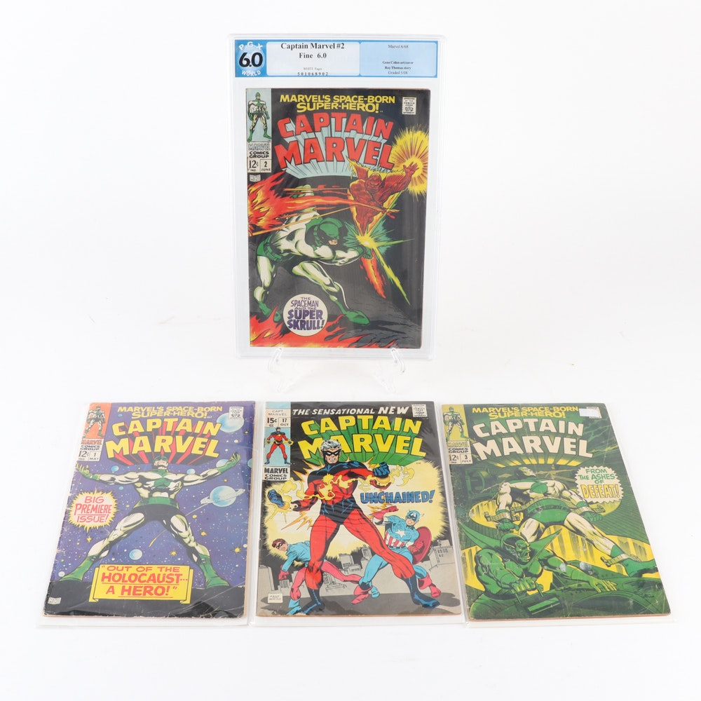 """Captain Marvel"" Issues 1-3 and 17"