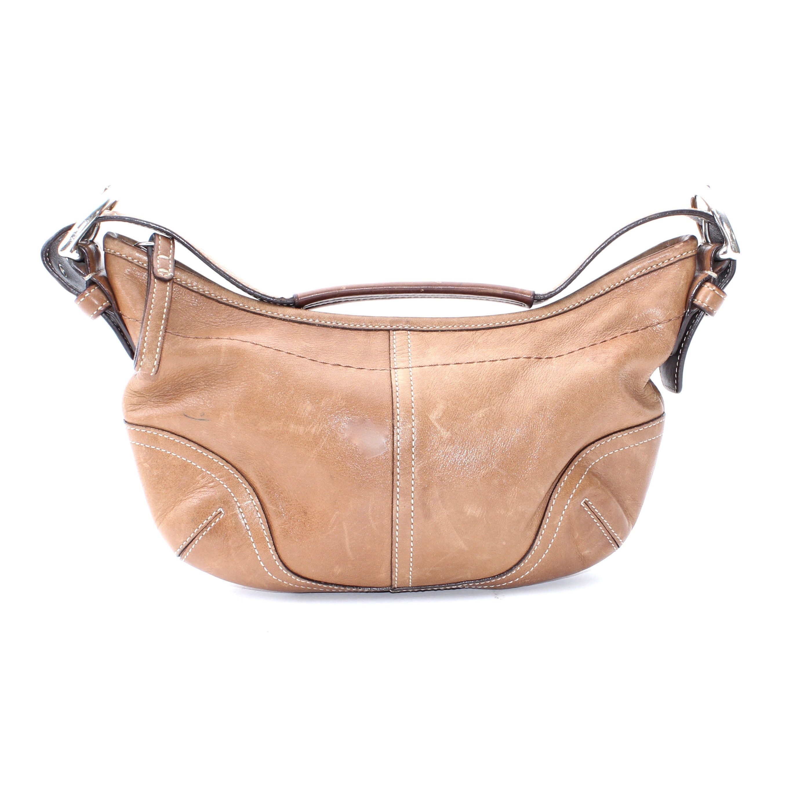 Coach SoHo Camel Brown Leather Small Hobo Purse