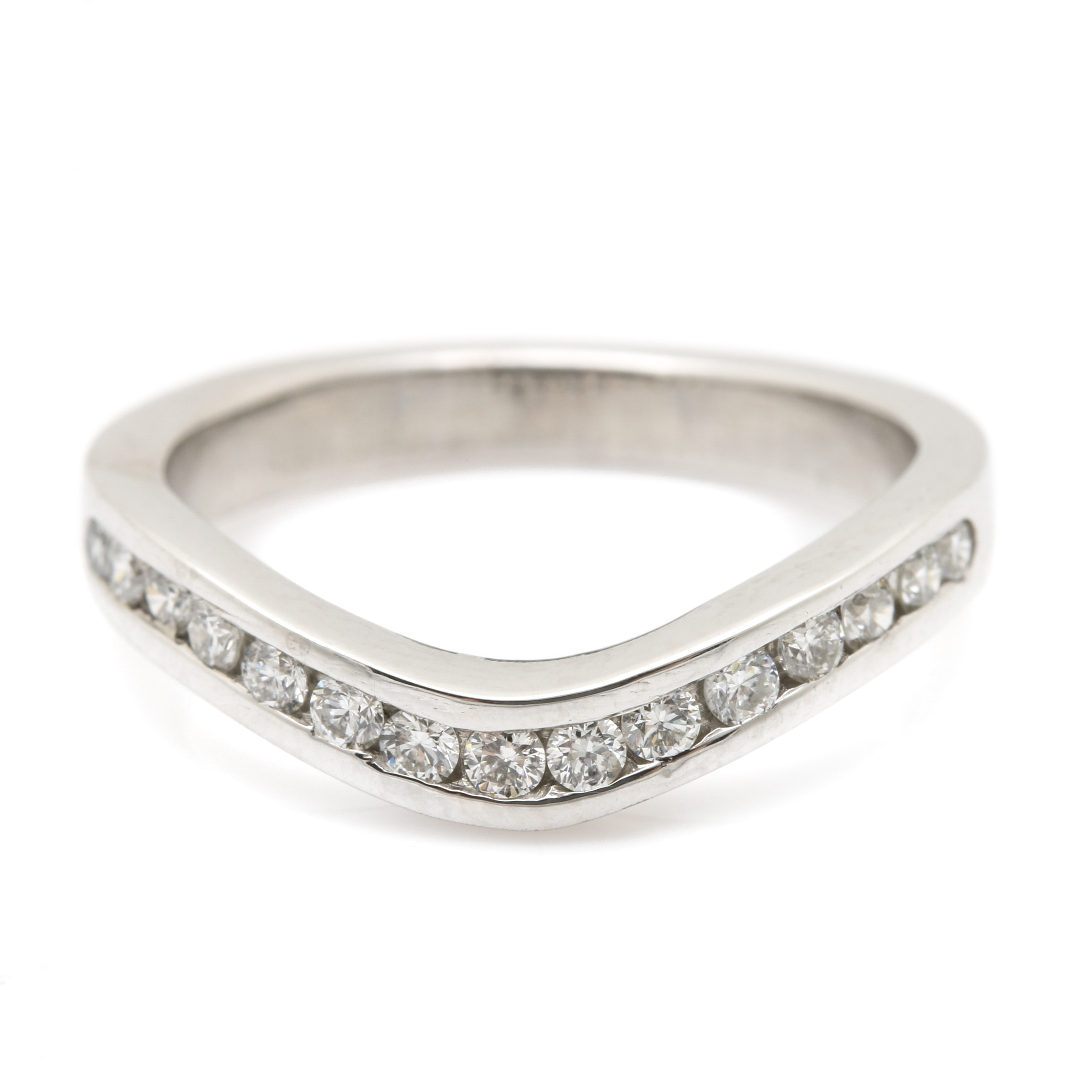 Platinum and Diamond Enhancer Ring