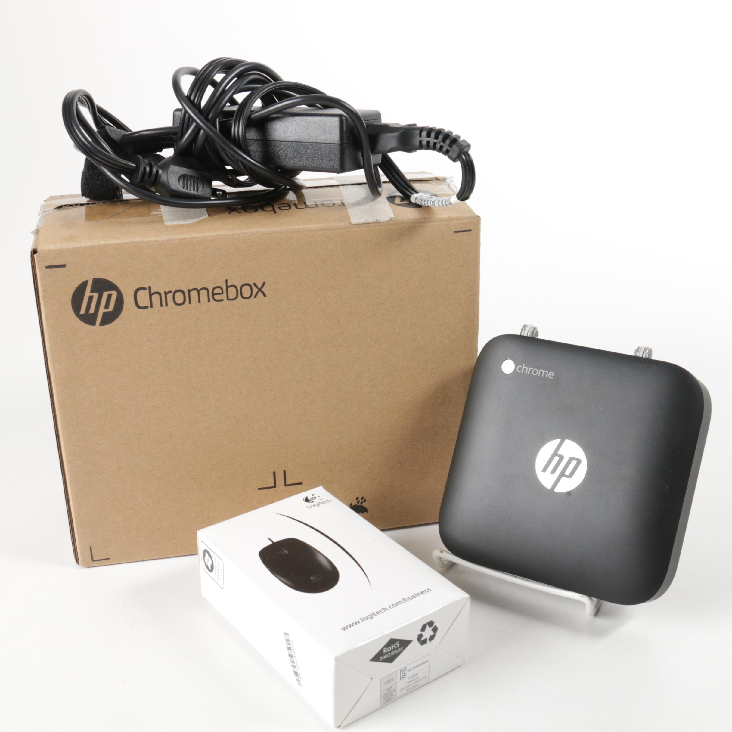 HP Chromebook with Logitech Mouse
