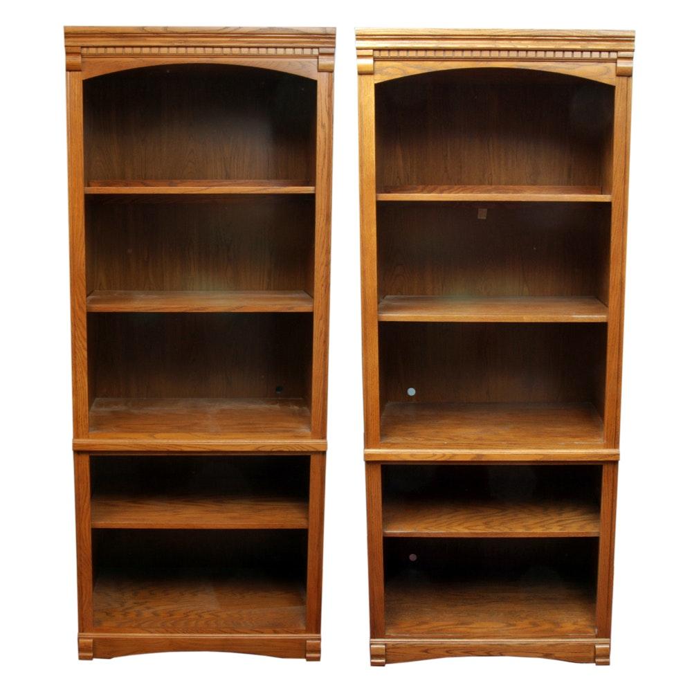 Pair of Oak Bookcases