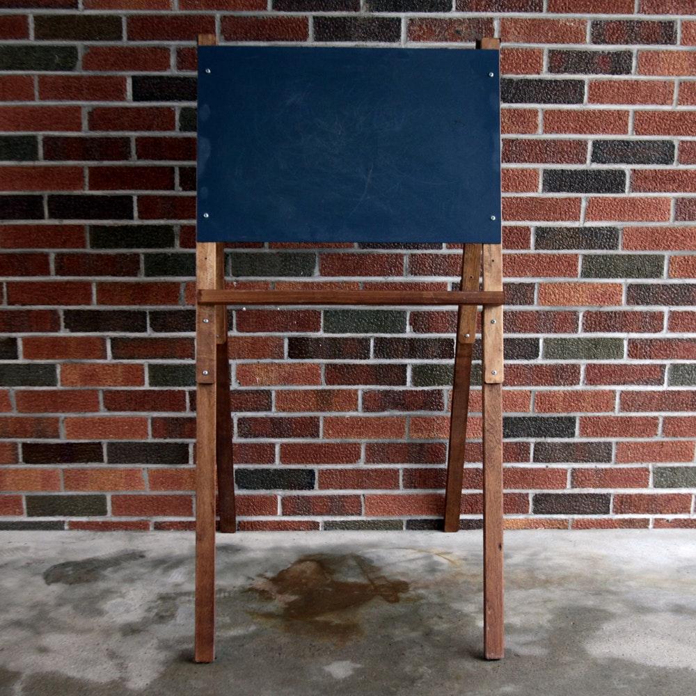 Vintage Wood Easel Chalkboard