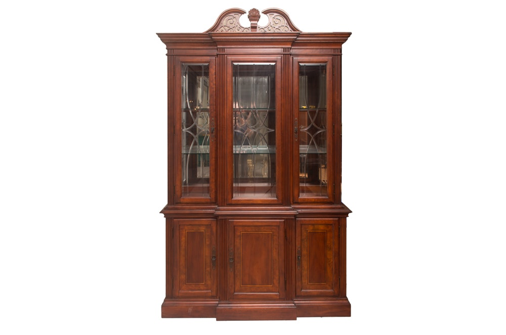 Mahogany Breakfront China Cabinet