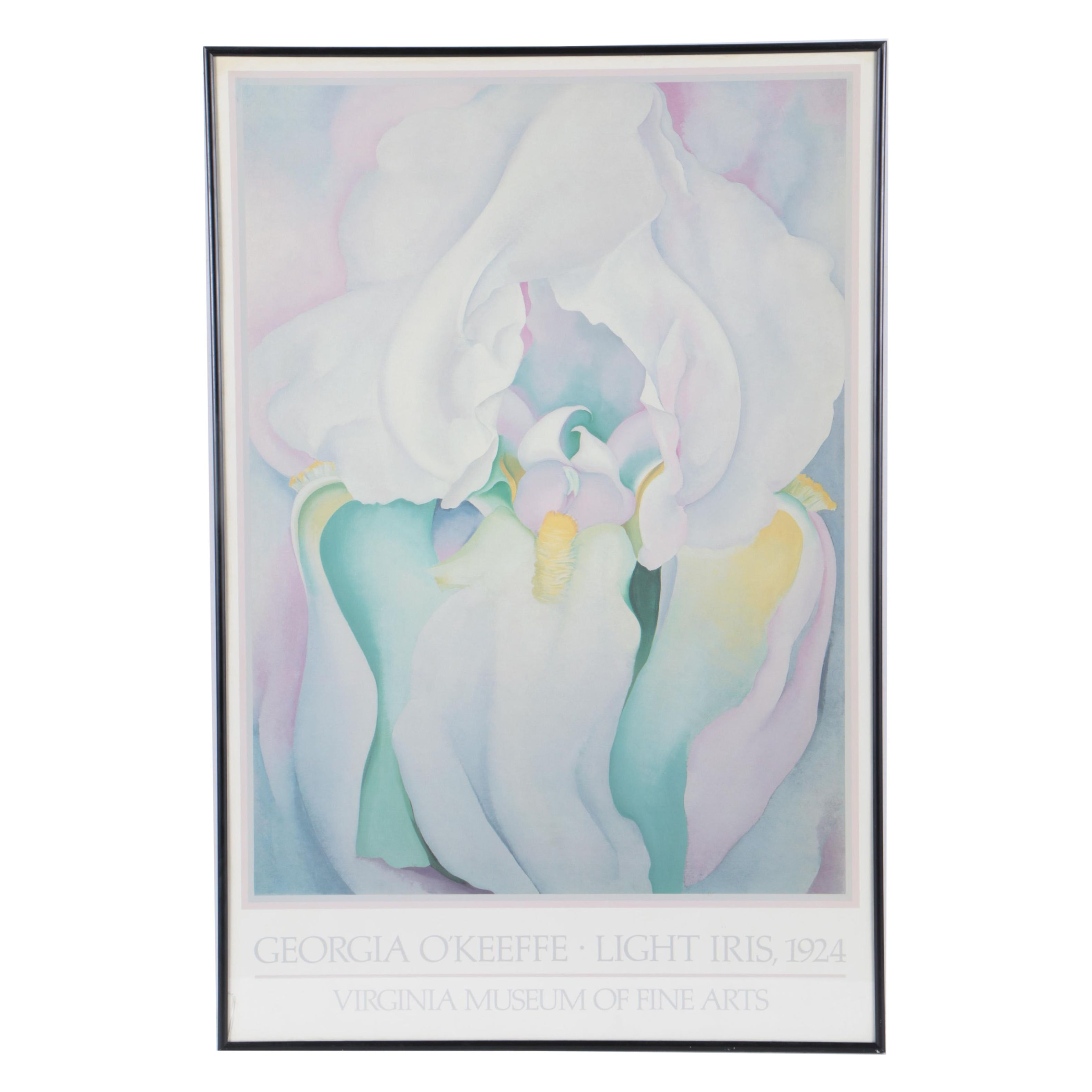 "Offset Lithograph ""Light Iris"" after Georgia O'Keeffe"