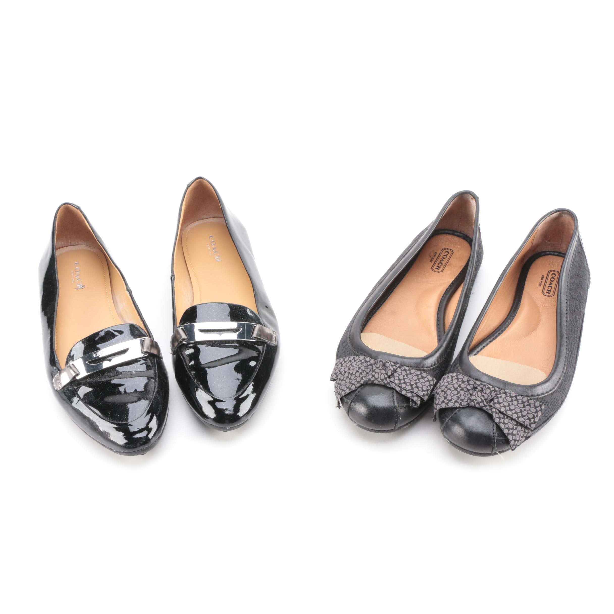 Women's Coach Leather Loafers and Flats