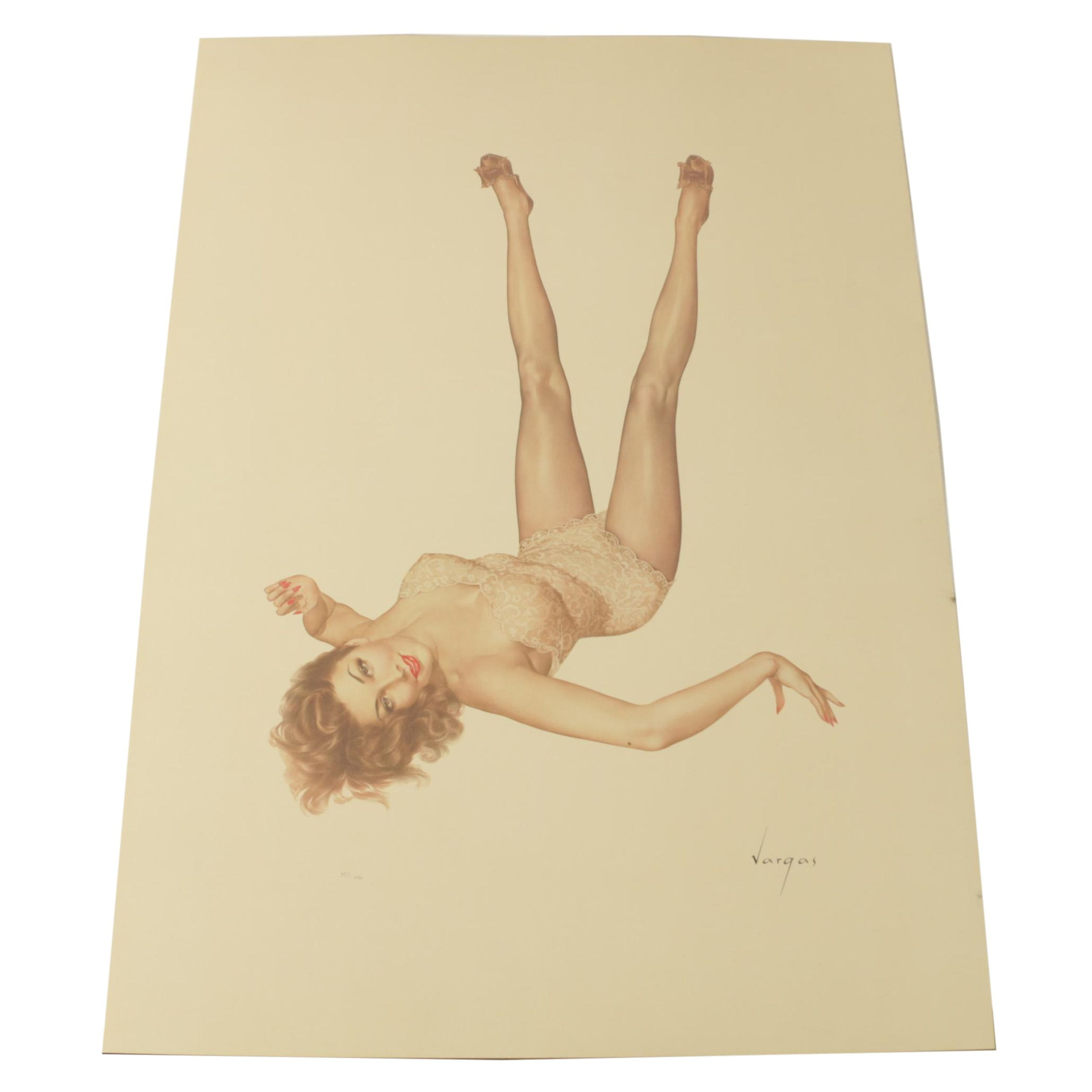 "Limited Edition Lithograph ""Legacy Girl"" after Alberto Vargas"