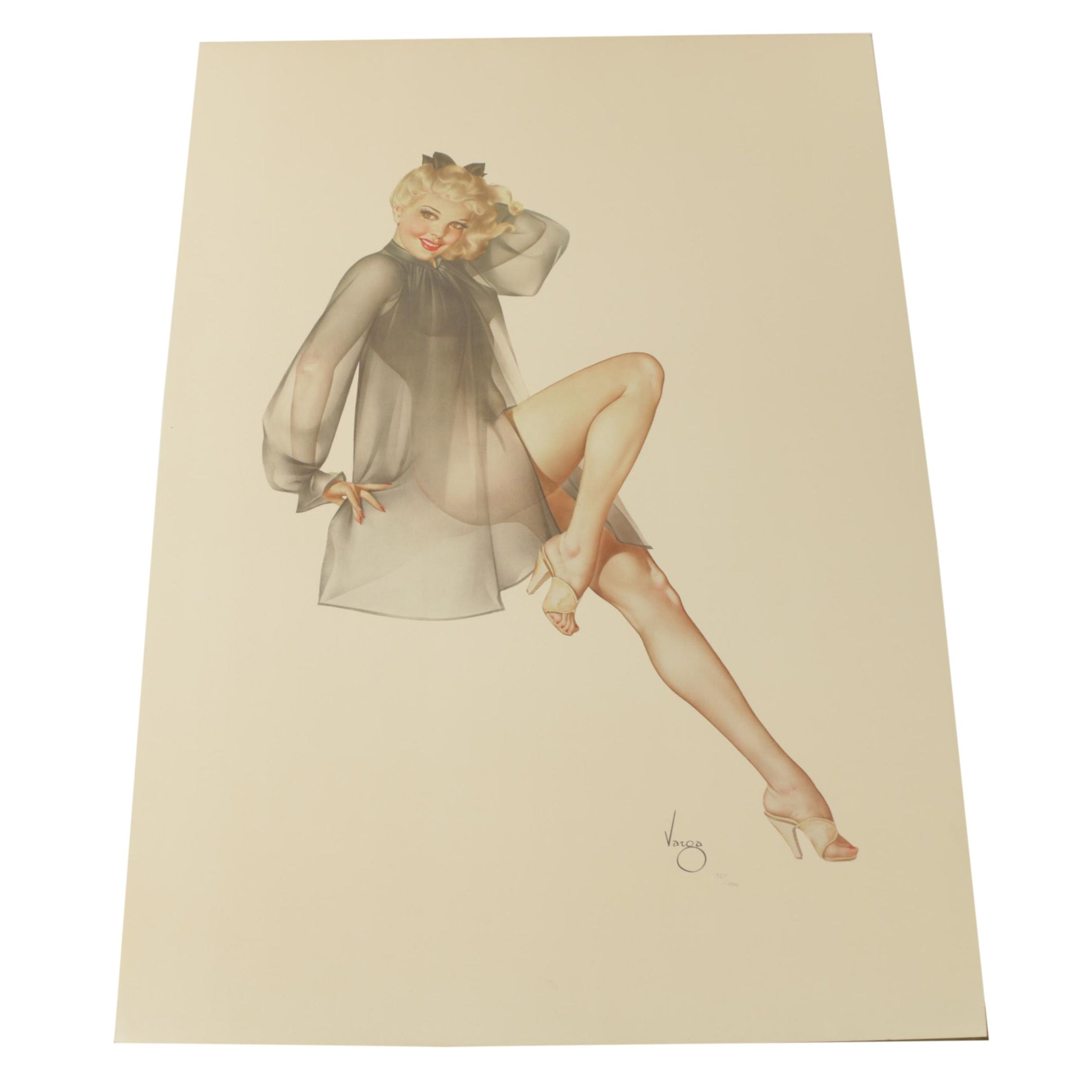 "Limited Edition Lithograph ""Sleepy Time Gal"" after Alberto Vargas"