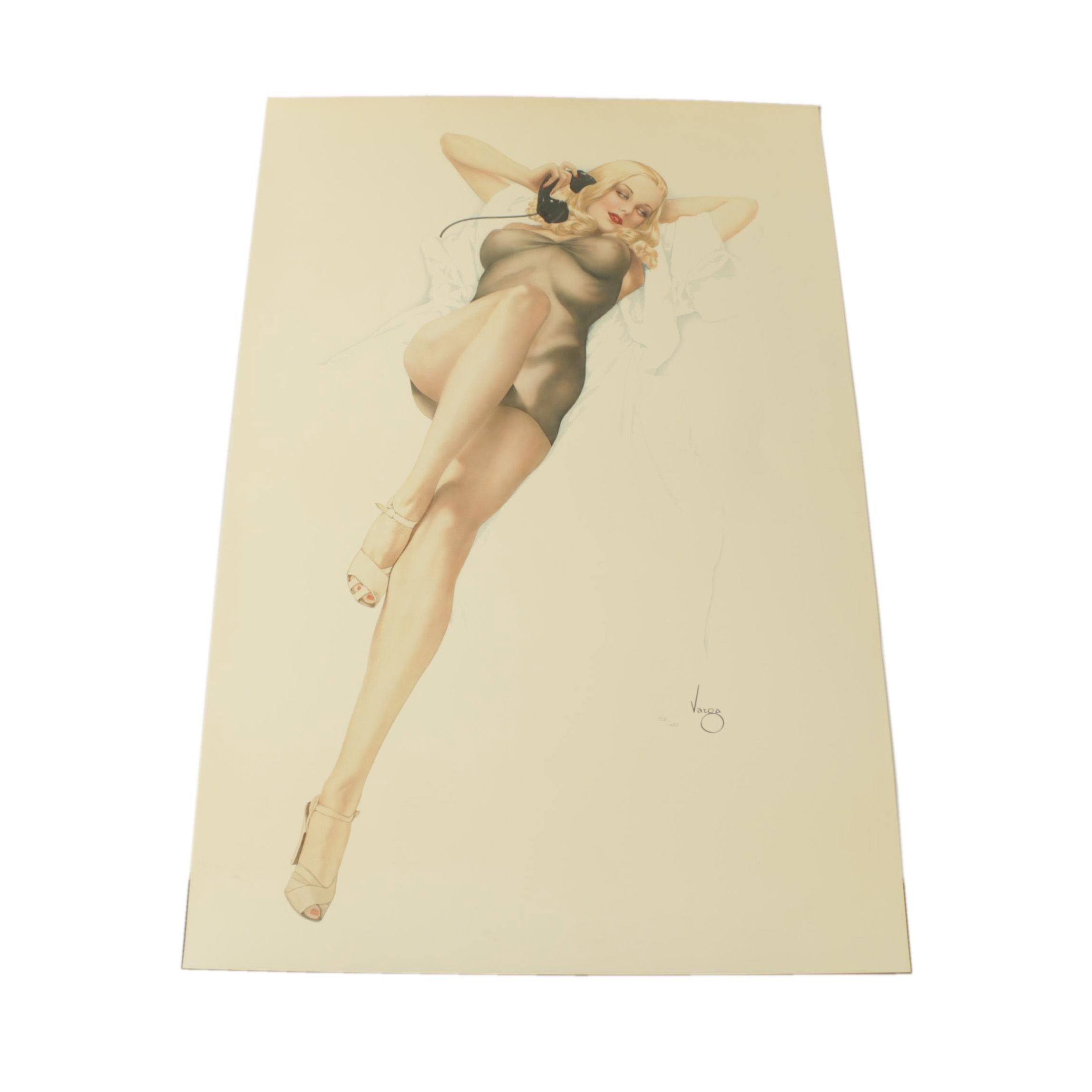 "Vargas Limited Edition Lithograph ""First Love"""
