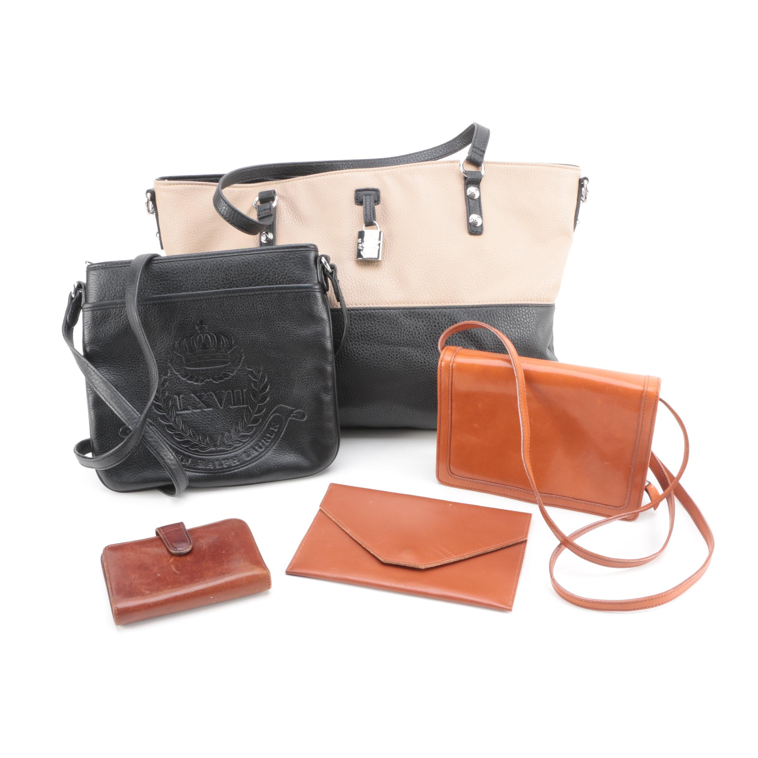 Leather Handbag, Wallet, Portfolio and Wristlet Assortment