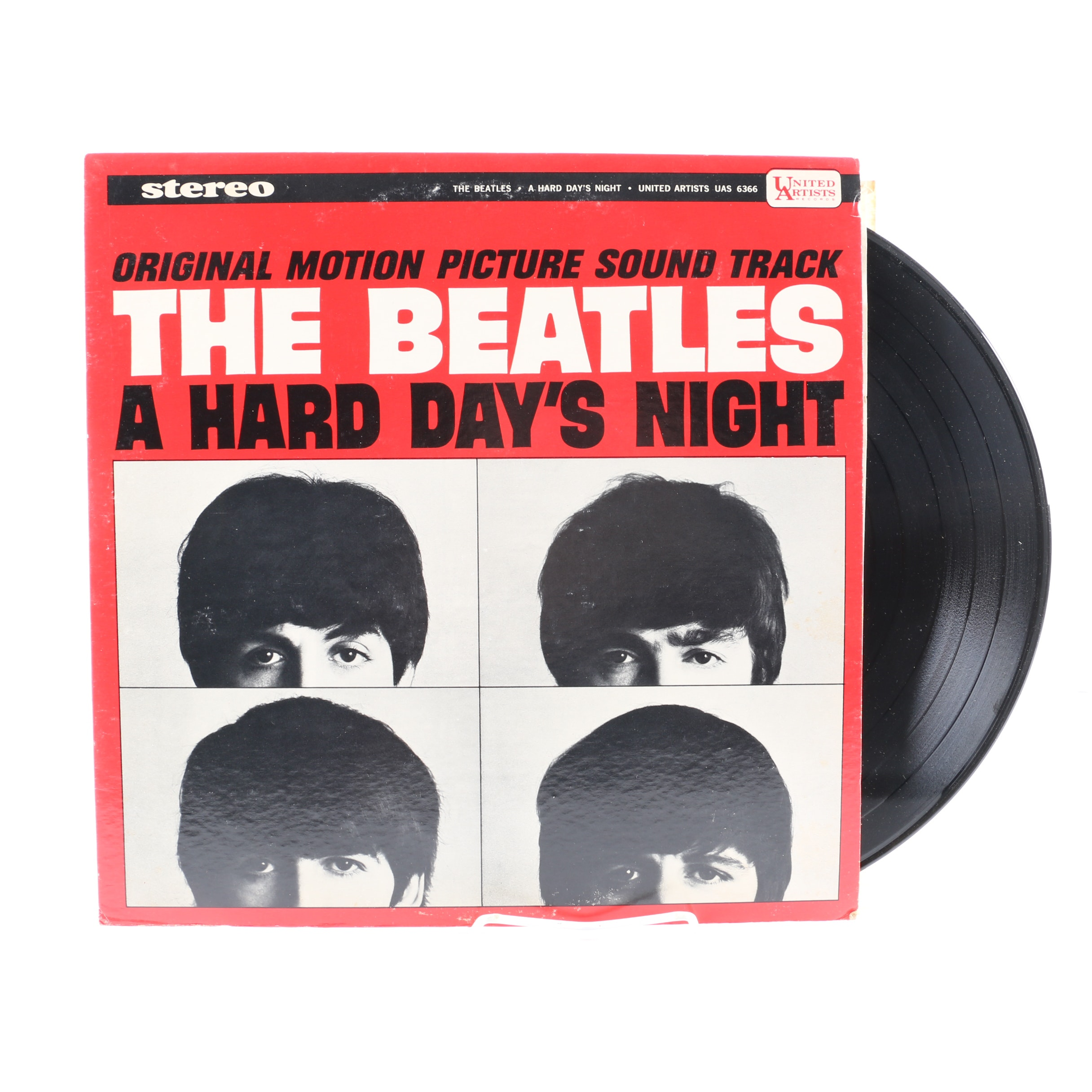 """The Beatles """"A Hard Day's Night"""" 1964 US Pressing LP"""