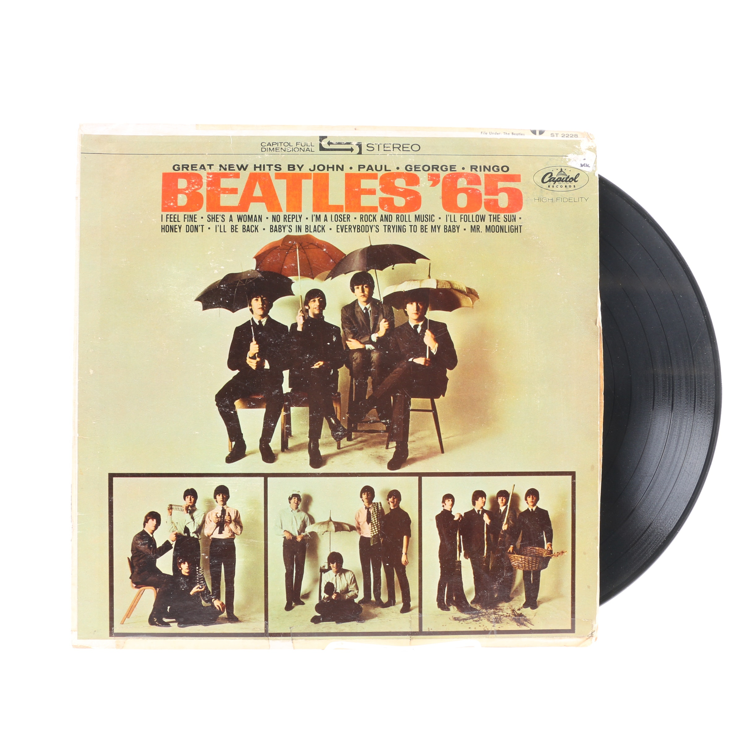 """Beatles '65"" 1964 US Pressing LP"
