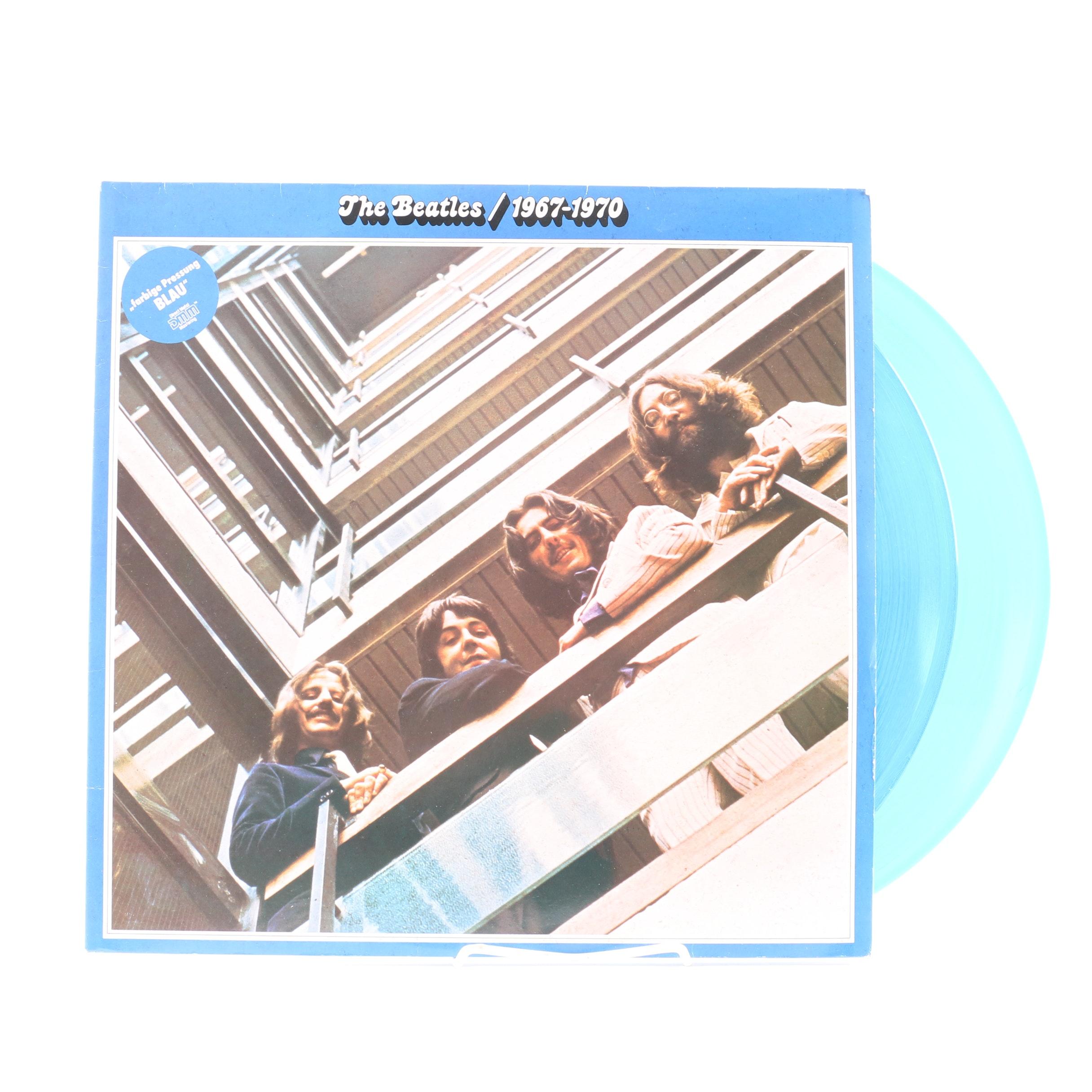 """The Beatles """"1967-1970"""" 1985 German Pressing LP on Blue Vinyl"""