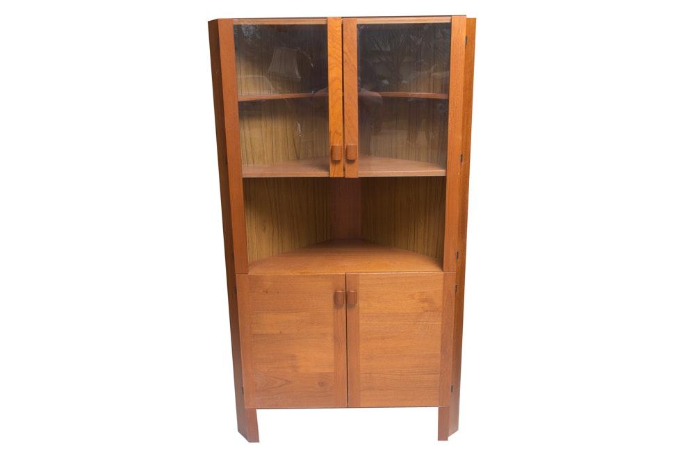 Danish Modern Style Corner Cabinet