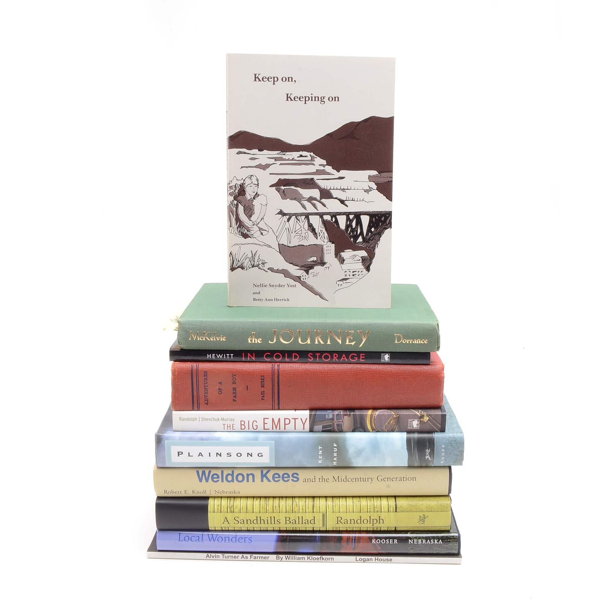 Collection of Nebraska Fiction and Poetry, Many Signed