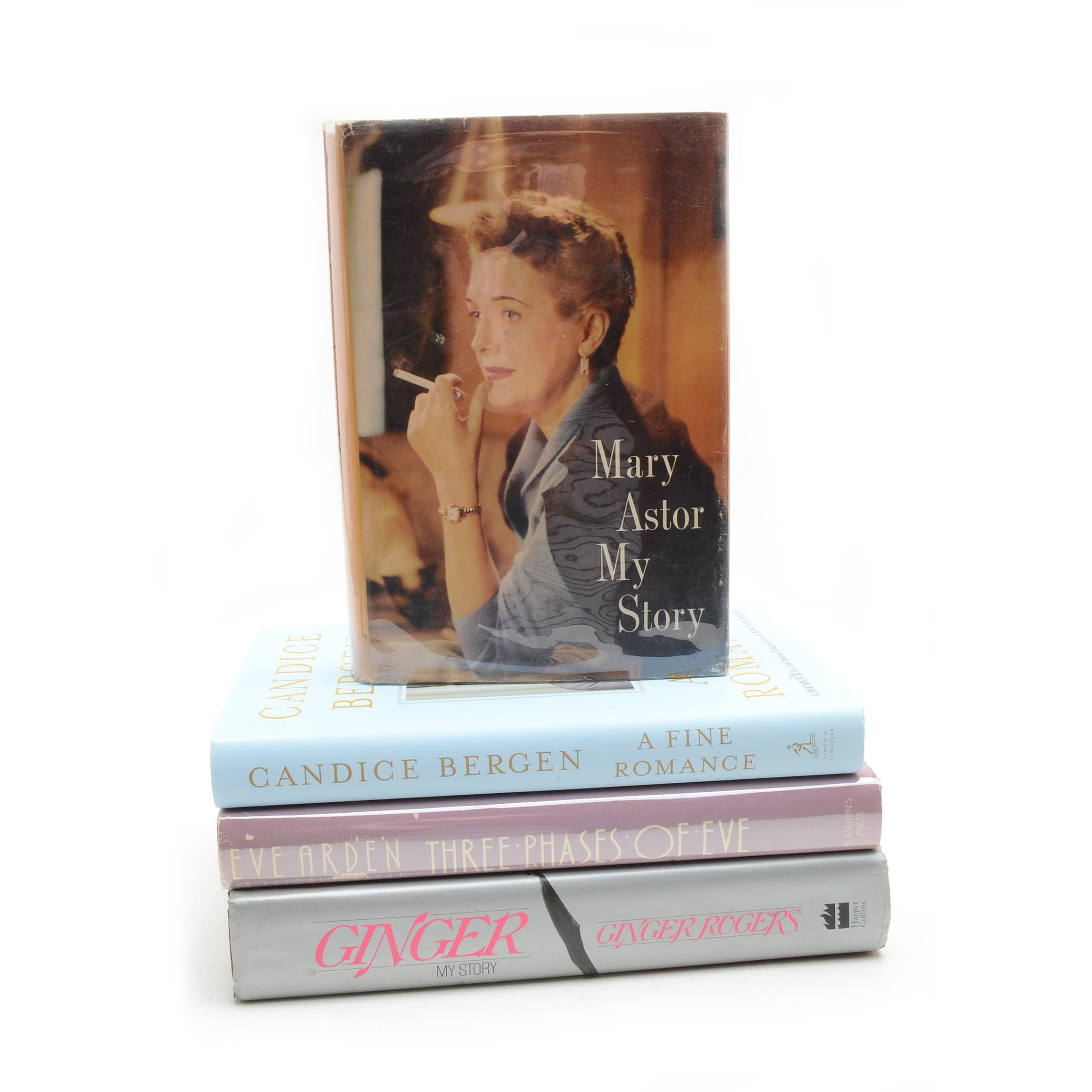Collection of Signed Books by Hollywood Starlets including Ginger Rogers