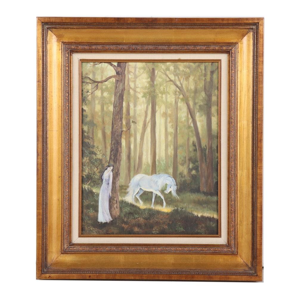 "Roberta Clark Oil on Canvas ""The Golden Road"""