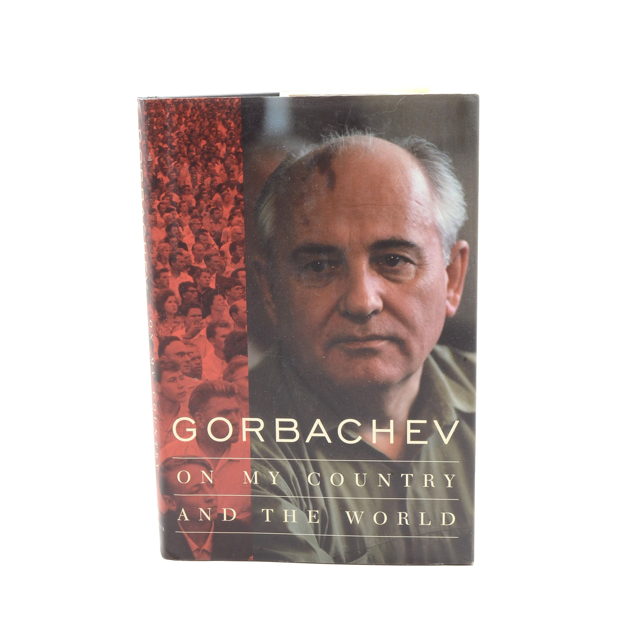 """Signed """"On My Country and the World"""" by Mikhail Gorbachev"""