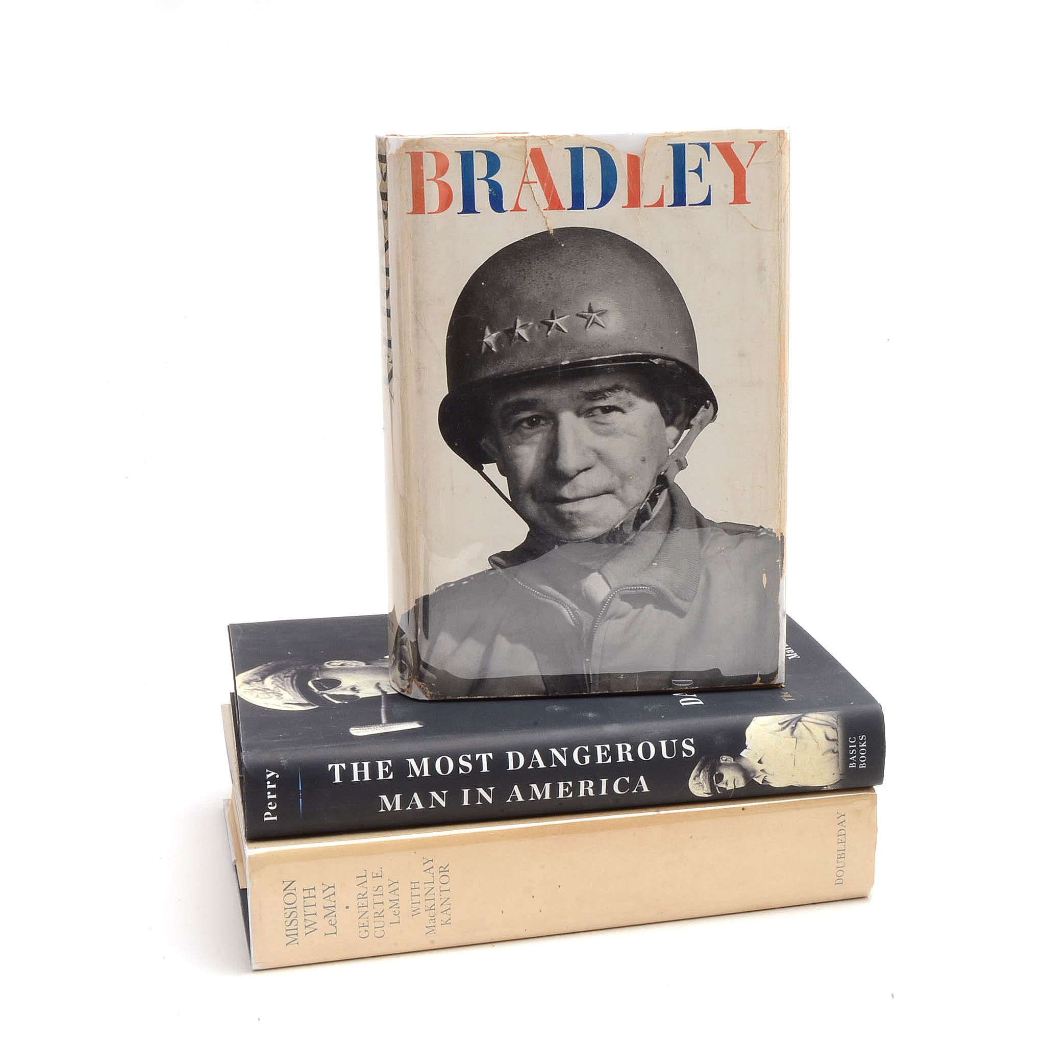 Signed Omar Bradley and Curtis LeMay WWII Memoirs