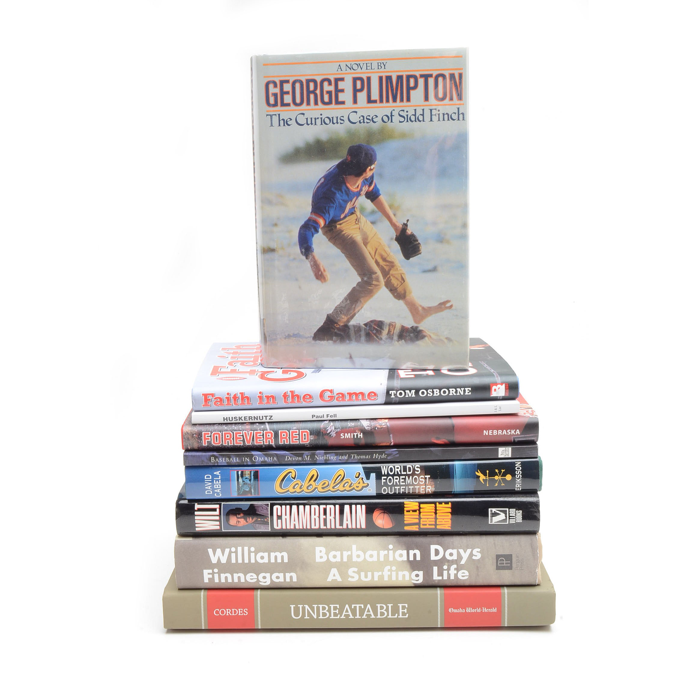Collection of Sports Books including Signed Wilt Chamberlain Memoir