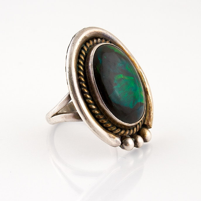 Nakai Sterling Silver and Abalone Ring