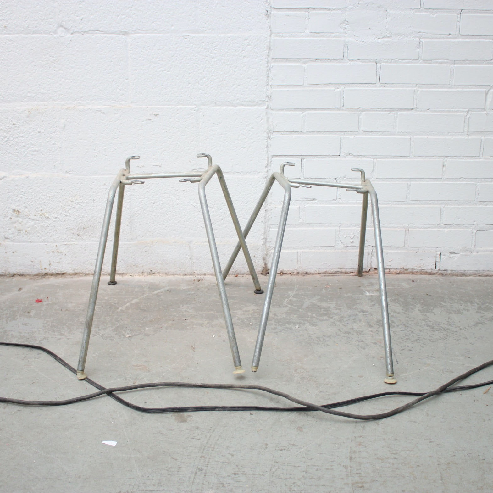 Vintage Herman Miller Shell Chair Style Metal Chair Frames