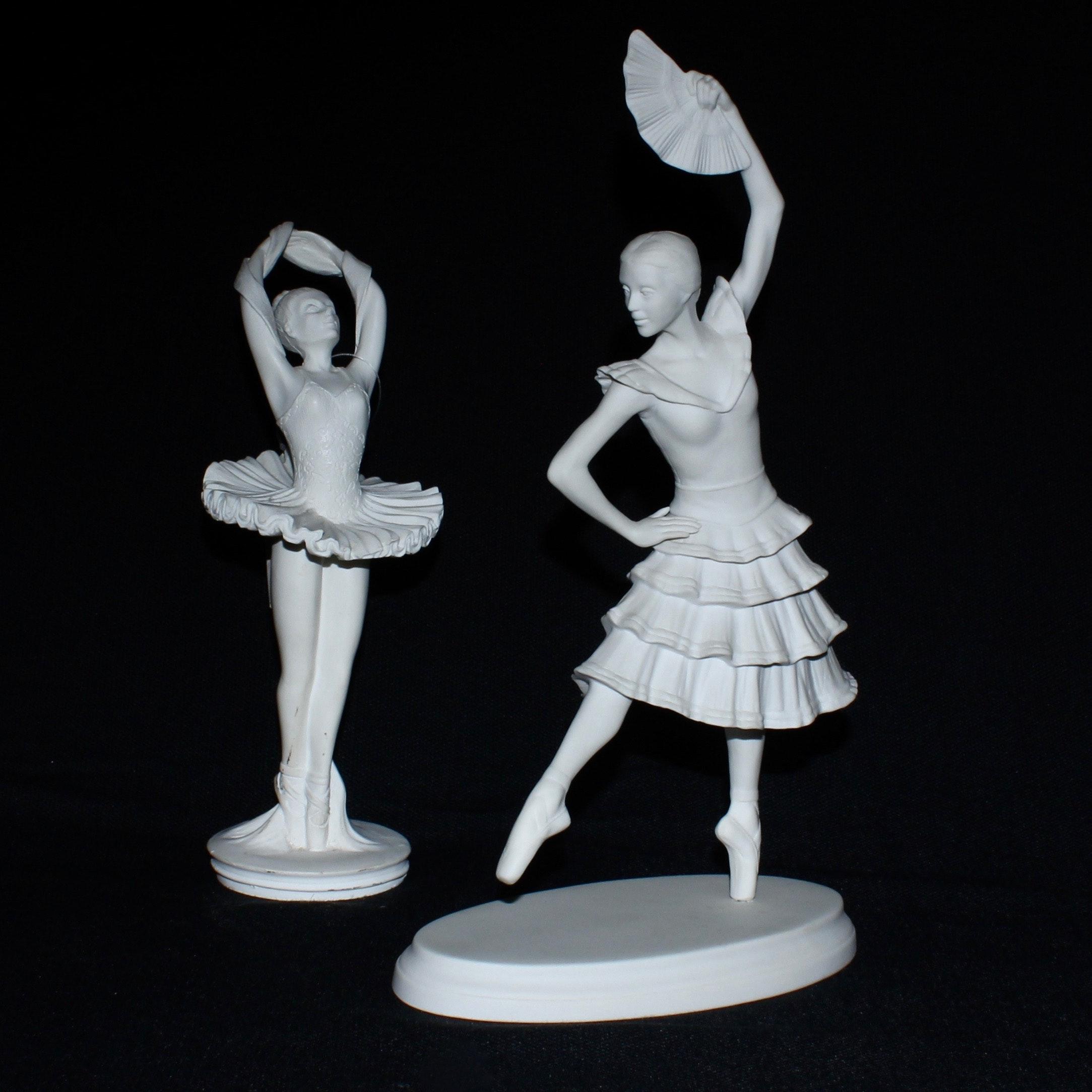 Porcelain Ballet Figurines Including Boehm