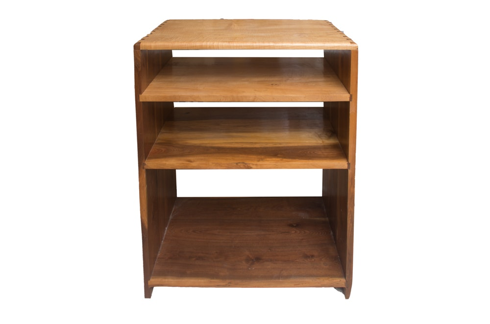 Dovetailed Four-Tier Wooden Shelving Unit