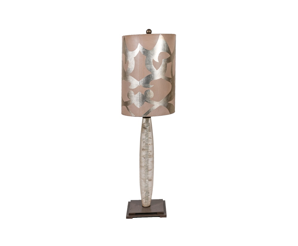 Contemporary Silver Tone Table Lamp