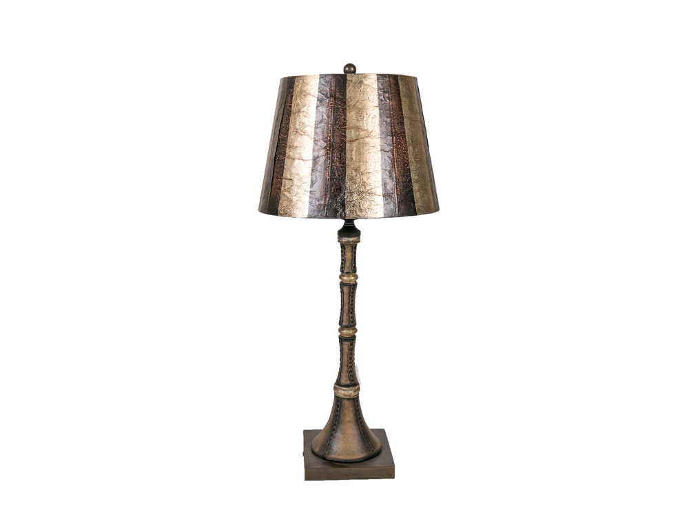 Bronze and Gold Patina Table lamp