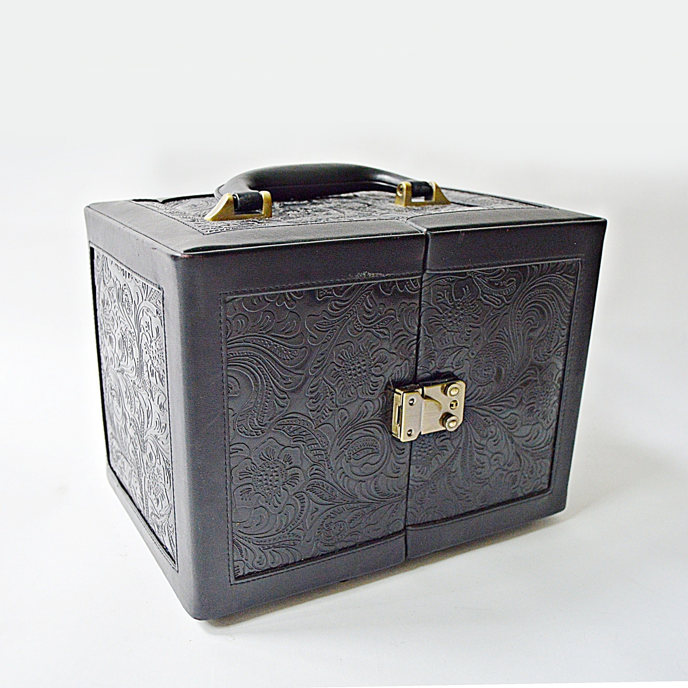Tooled Leather Jewelry Chest