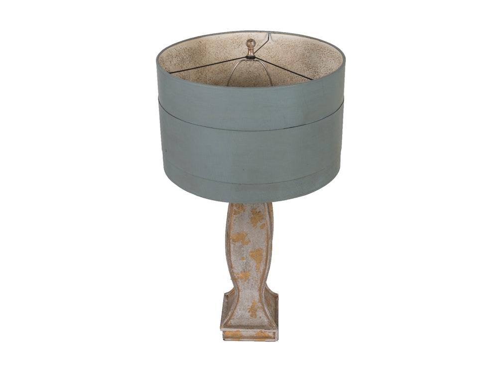 Table Lamp with Metallic Finish