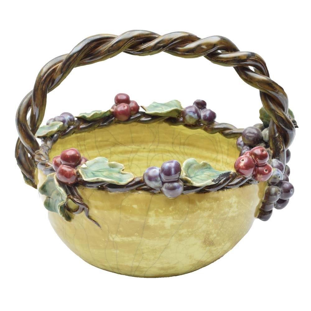 Art Pottery Basket