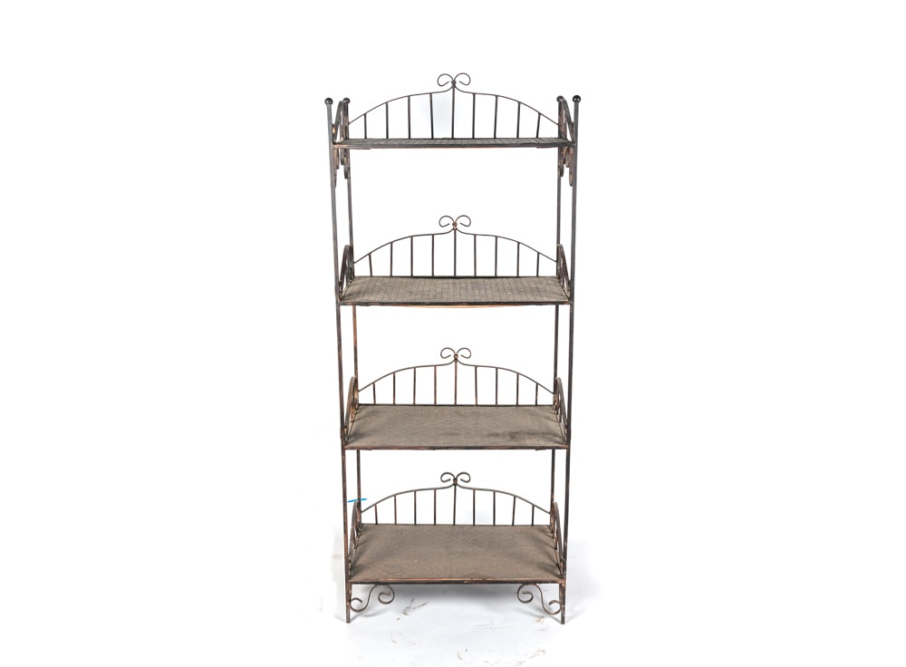 Scrolled Metal Tall Shelving Unit