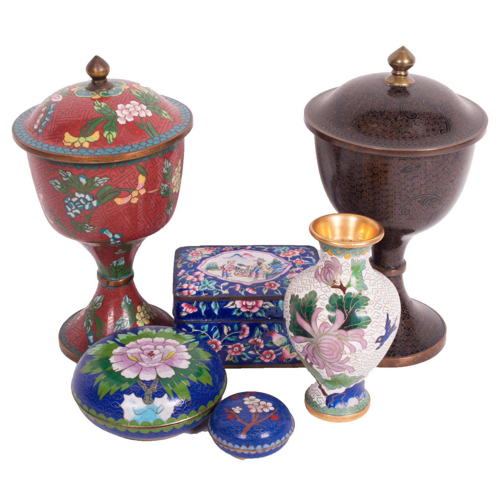 Chinese Cloisonné Decorative Assortment