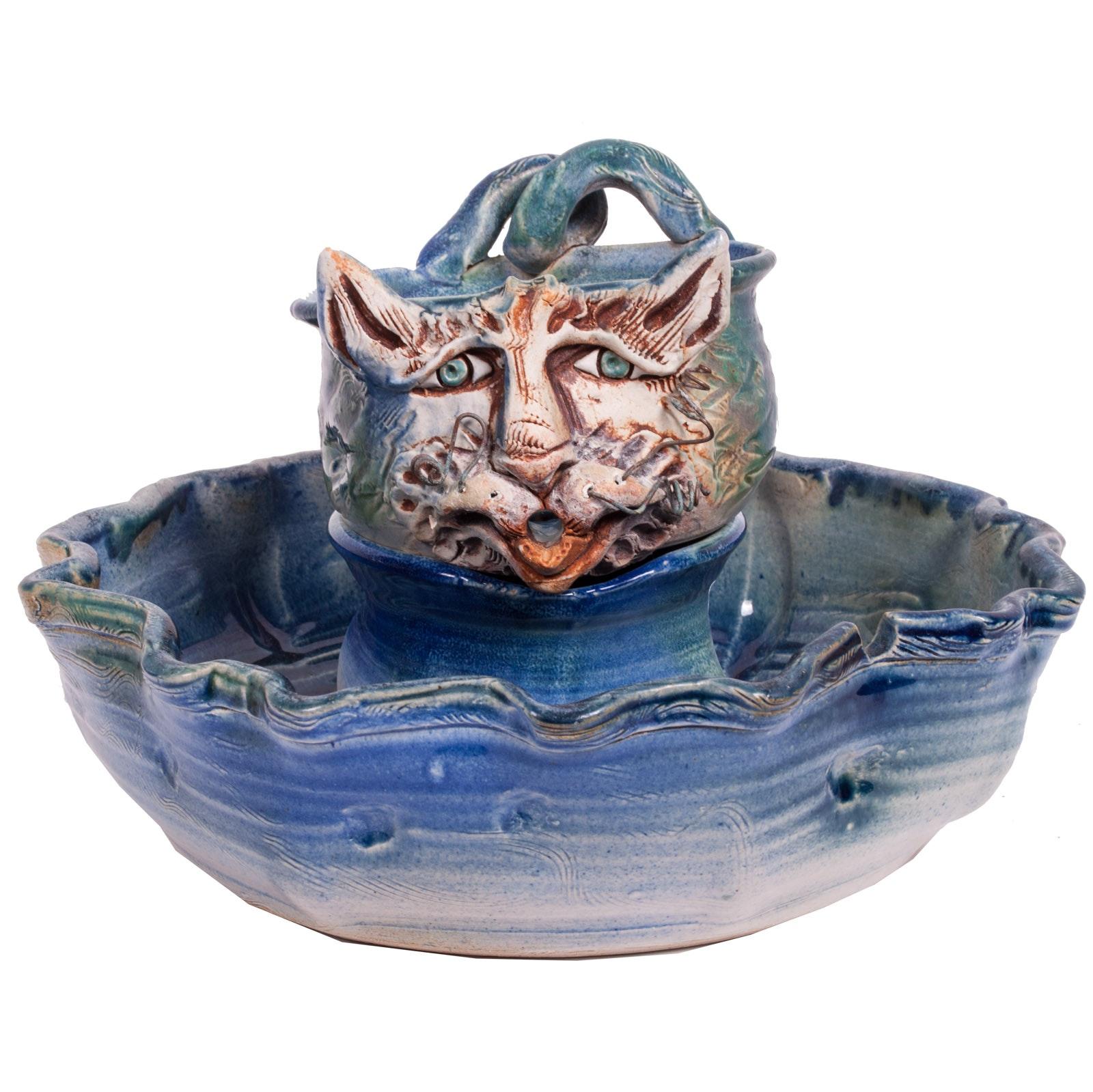 "John Smith Ceramic ""Water Kitties"" Fountain"