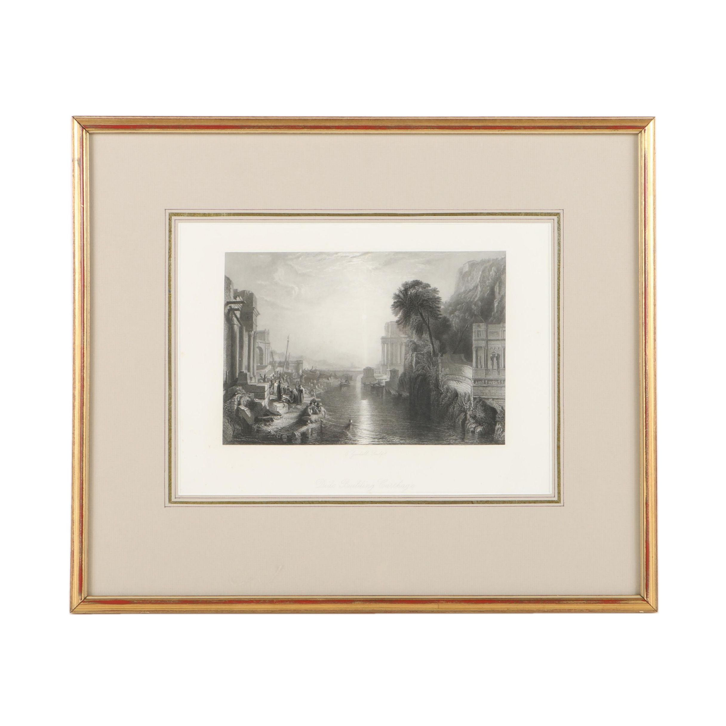 """Engraving After J. M. W. Turner's """"Dido Building Carthage"""""""