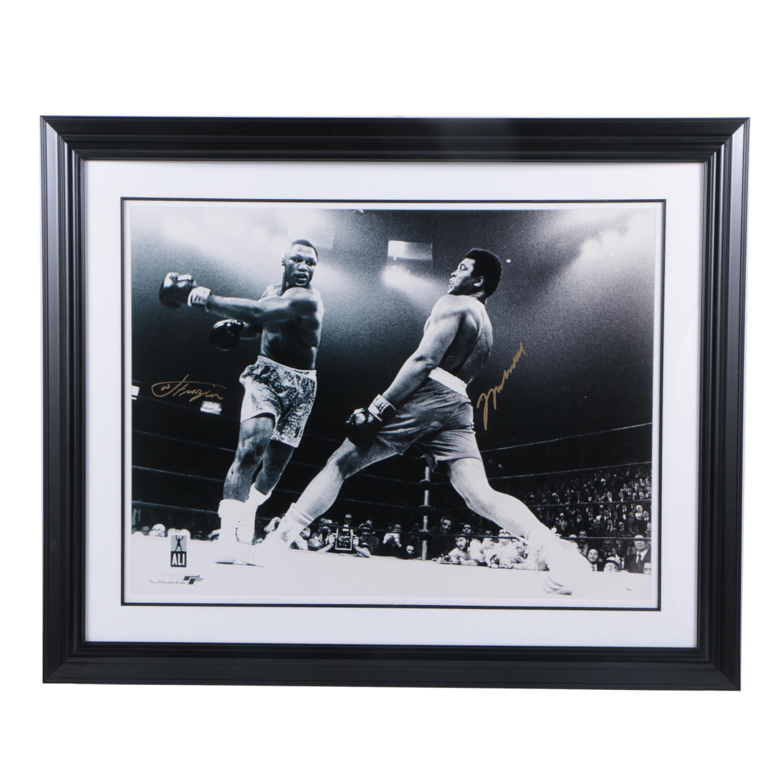 Autographed Muhammad Ali and Joe Frazier Digital Photograph COA