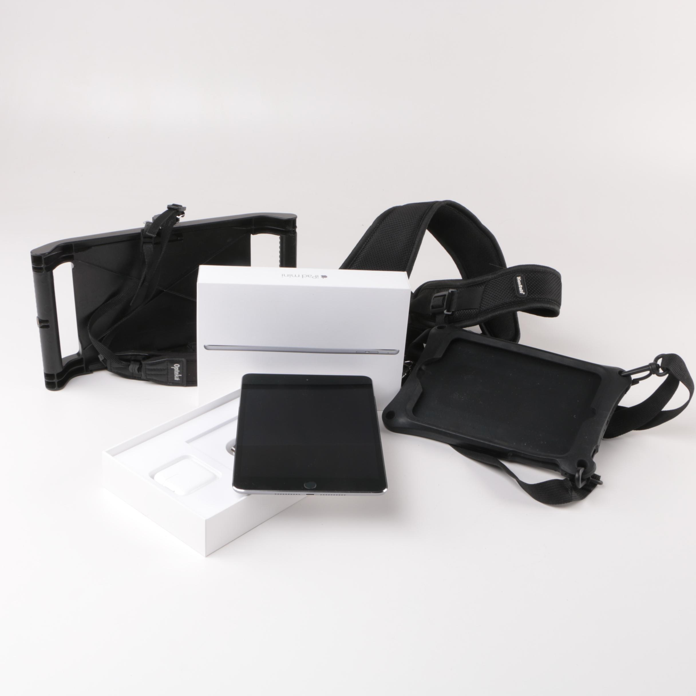 Apple iPad Mini with Opteka Strapped Carrier