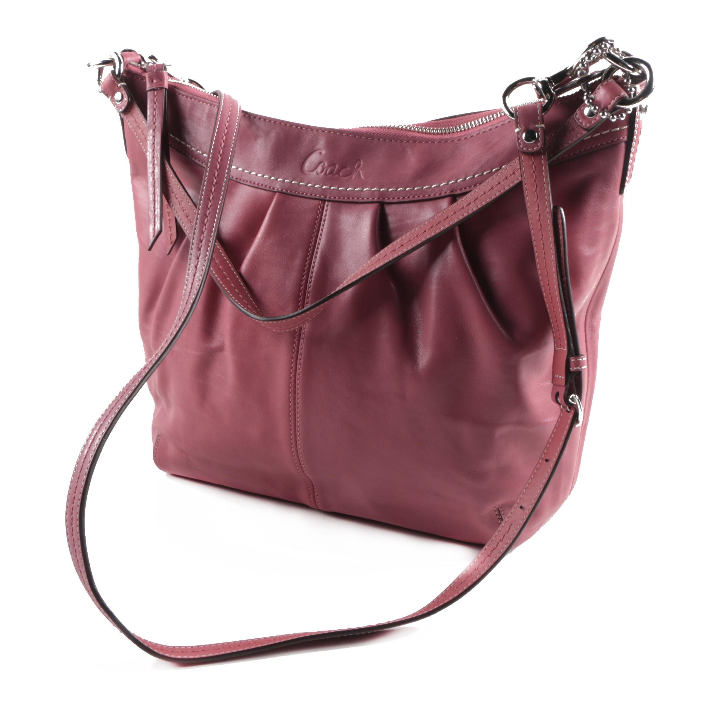 Coach Ashley Pleated Leather Crossbody Bag